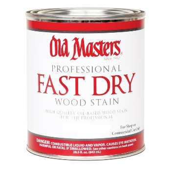 Fast Dry Wood Stain, Golden Oak ~ Quart