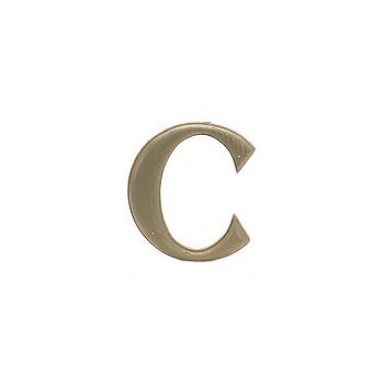 House Letter C,  Simulated Wood-Grain Letter ~ 7""