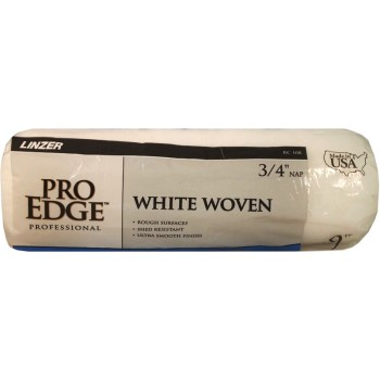 "Pro Edge Roller Cover, White Woven ~ 9"" x 3/4"" Nap"