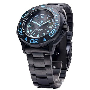 Diver Tritium Watch w/Black Body + Blue/Black Face