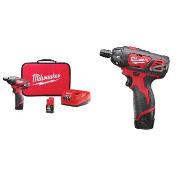"Milwaukee 2401-22 12-Volt Lithium-Ion Cordless 1/4""  Hex Screwdriver Kit"