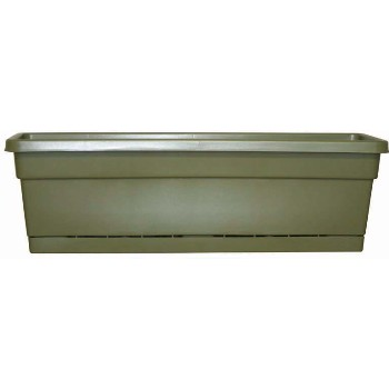 Rolled Rim Window Box Planter - 24 inch