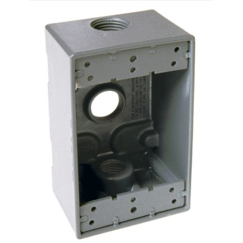 Weather Proof Box, Single Gang Gray