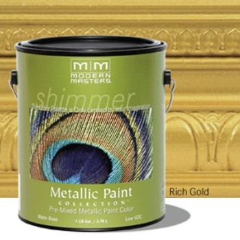Rich Gold Metallic Paint ~ One Gallon