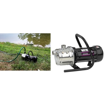 Wayne PLS100 Portable Stainless Steel Lawn Pump ~ 1 HP