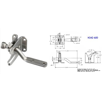 Stainless Steel Finish Automatic Gate Latch