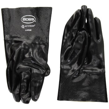 "Boss 951 Neoprene Gloves, Black w/Cotton Lining ~ 12"""