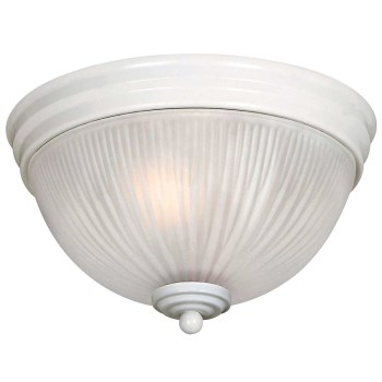 "Hardware House  544007 2 Light Ceiling Fixture, White Finish ~ 9-1/2"" x 5-3/4"""