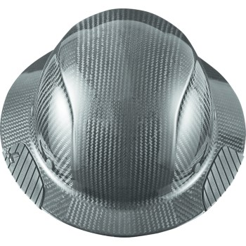 Dax Carbon Fiber Full Brim Hard Hat, Gloss Black