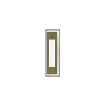 Brass/Wh Doorbell Button