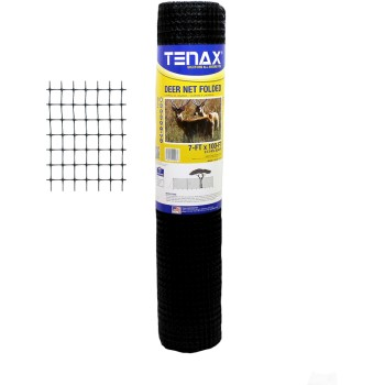 Tenax Corp 2A040006 Deer Net, Black ~ 7 Ft x 100 Ft