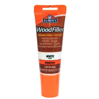 Elmers E855 Wood Filler, Interior White ~ 3.25 oz