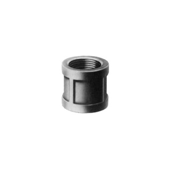 Malleable Coupling, Black Steel ~ 1/2""