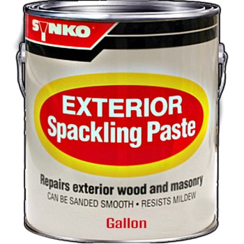 Synkoloid Spackle Paste, Exterior ~ Gallon