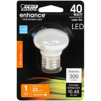 R14 Dimmable LED  Bulb, 300 Lumen