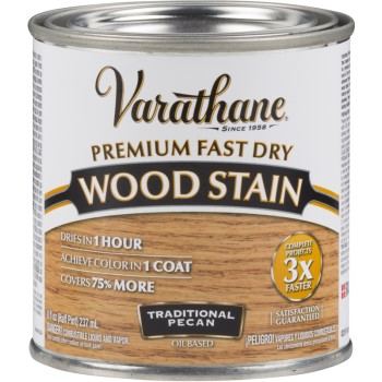 Varathane Premium Fast Dry Interior Wood Stain, Traditional Pecan ~ Half Pint