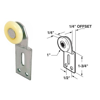 Frontside By-Pass Door Roller, Top Hung