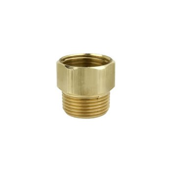 Brass Hose Connector ~ .75 MNH x .5 FNPT