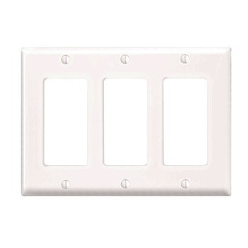 Decora 3-Gang GFCI Wall Plate ~ White