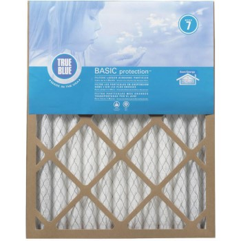 "ProtectPlus 212241 True Blue Basic Pleated Filter ~ Approx 12"" x 24"" x 1"""