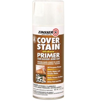 Rust-Oleum 03608 Zinsser Cover Stain Oil-Based Primer, Flat White ~ 13 oz Spray