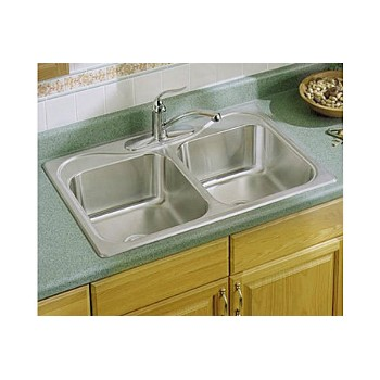 Sterling Kohler Company (Sink) 11402-4NA Double Basin Sink - Stainless Steel