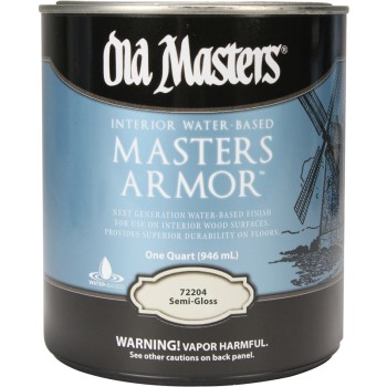 Mastor Armor Interior Polyurethane Finish,   Semi-Gloss  ~ Quart