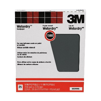 3M 051144885992 Wet or Dry Sandpaper, 1500A Grit