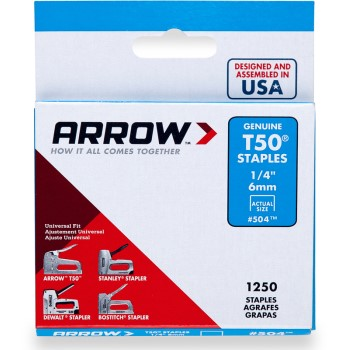 Staples,T50 Arrow Staple ~ 1/4""