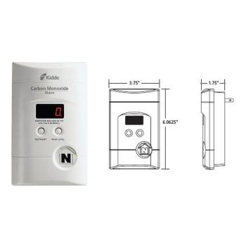 Kidde 900-0076-01 Nighthawk Plug-In Carbon Monoxide Detector Alarm