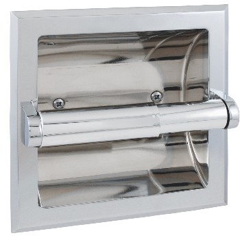 Toilet Paper Holder,  Recessed ~ Chrome