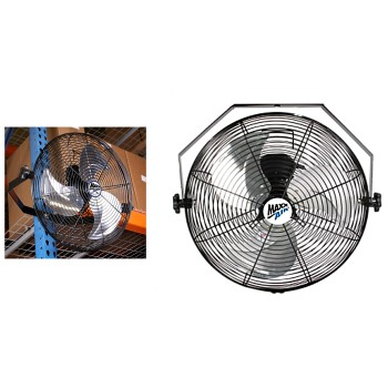 Ventamatic HVWM18 Hanging Wall Fan,  Black  ~ 18""