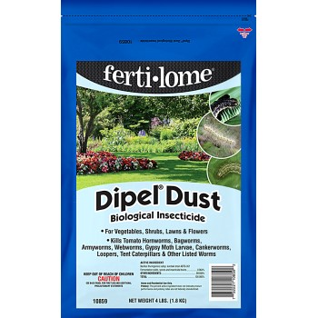 Ferti-lome Dipel Dust Biological Insecticide  ~ 4 lbs.