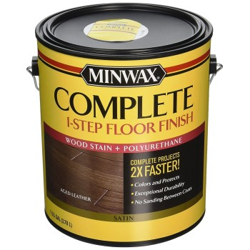 Minwax Complete One-Step Satin Floor Finish, Aged Leather  ~ Gallon