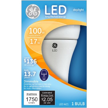 Dimmable LED Light Bulb - 17/100 watt
