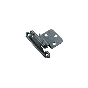 Inset Hinge - Self Closing - Wrought Iron Finish - 3/8 inch