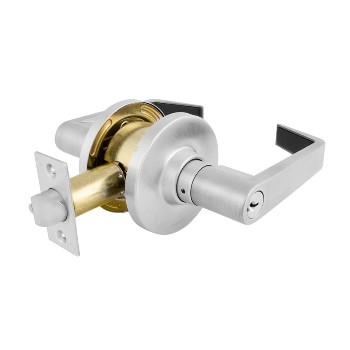 Entry Lock,  Commerical Lever ~ Brushed Chrome, KA4