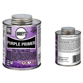 Purple Primer for PVC And CPVC Pipes & Fittings ~ 16 oz