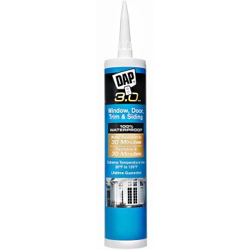 DAP 18360 3.0 3.0 High Performance Window, Door, Trim & Siding Sealant, White  ~ 9.0 oz Tubes