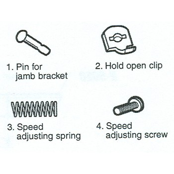 PrimeLine/SlideCo K5034 Scr Dr Closer Repair Kit