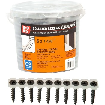 Collated Drywall Screw ~ #6 x 1-5/8""