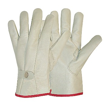 Ladies Leather Roper Gloves - Medium