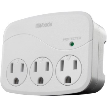 Woods Brand  3 Outlet Wall Tap Surge Protector