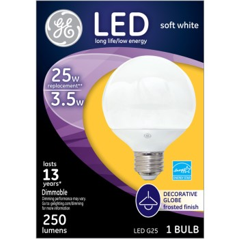 LED Globe Bulb - 3.5 watt/25 watt ~ Frosted