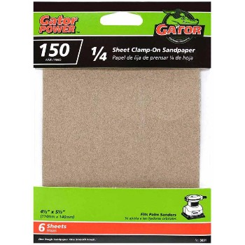 150 Grit 1/4 Sandpaper ~ 6 Pack