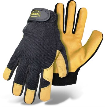 Mechanic Gloves - Goatskin Palm - Unlined - Large