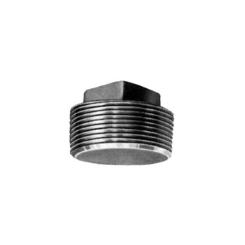 Square Head Plug - Black Steel - 2 inch