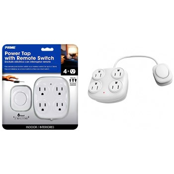 4 Outlet Power Tap w/Remote Switch