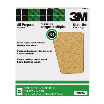 3M 051144994045 Sandpaper, Aluminum Oxide ~ 100 grit