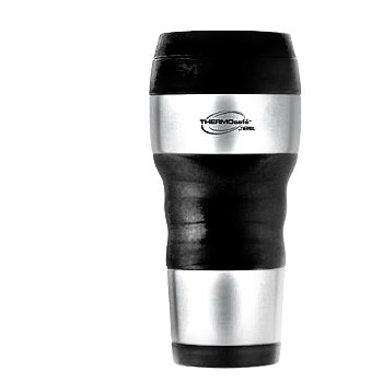 Thermos DF4020ATRI6 Travel Tumbler, Stainless Steel Exterior ~ 16 oz